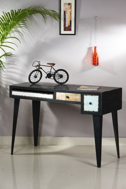 SIT Schreibtisch Antwerp •• Mango MFD, Metall, Antikfinish, 2 Schubladen, L/B/H ca. 120/60/76 cm. #Büro #Möbel #Office #Stuhl #Tisch  http://www.muellerland.de/sortiment/produkt/sit-schreibtisch-6/