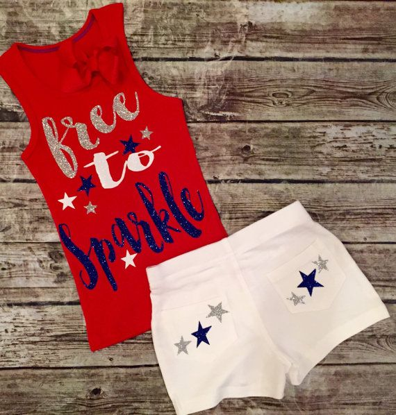 Fourth of July Baby Girl Fourth of July outfit for by ALGDezigns