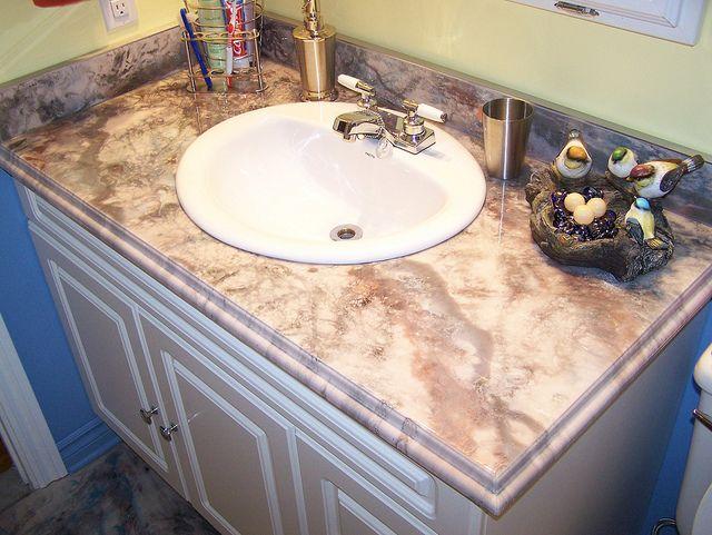 Customize your vanity showers bathrooms pinterest photos and vanities for Resurface bathroom vanity top