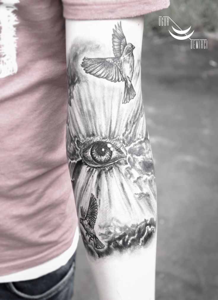 Realistic cloud eye tattoo #cloud #eye#tattoo #desing #art #custom #customwork #tattoos #realistic #blackwork #linework #dövme #dovme #man #white #kadıköy #istanbul #illustration #gothic #sleeve #goldenarrowstreet #goldenarrow #uğurdemirci #uğurdemircitttoo