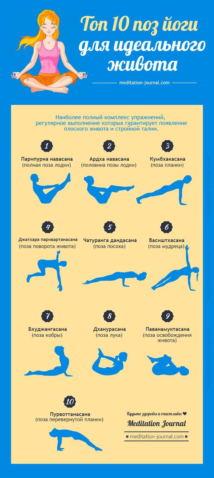 Йога Похудение Живота. 12 поз для похудения живота