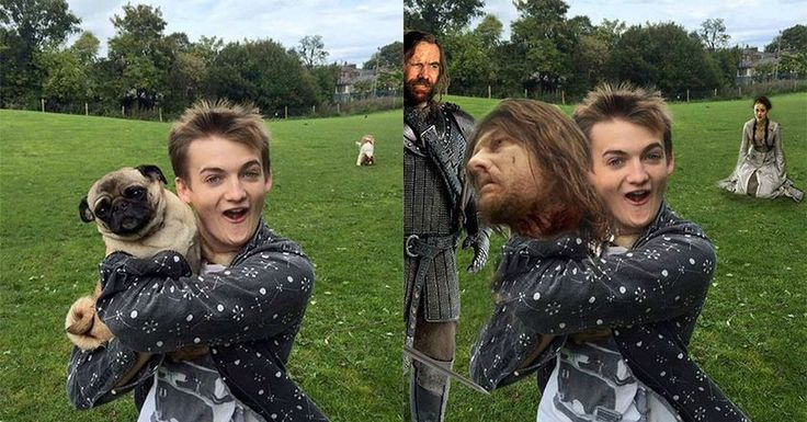 cool King Joffrey Hugged A Pug And People Went Wild With 'Game Of Thrones' Photoshops