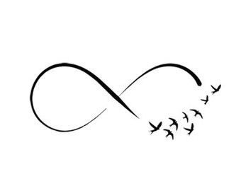 infinity symbol birds svg dxf file instant download silhouette cameo cricut clip art