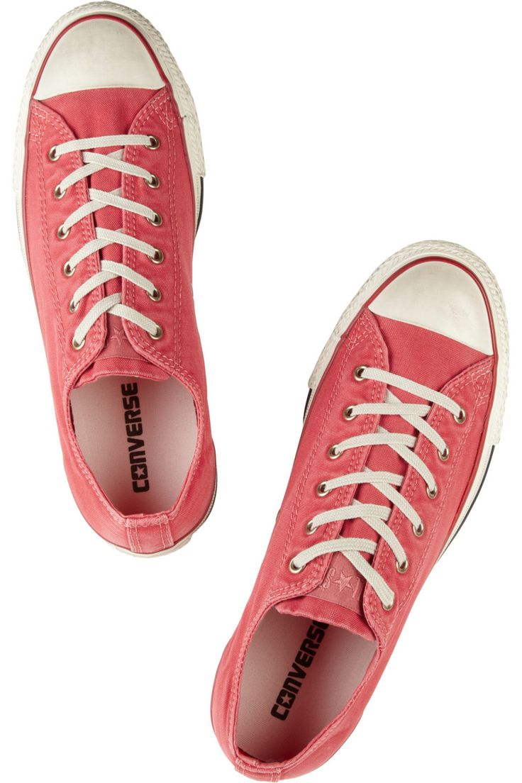 Watermelons color Converse So Summery! | Chuck Taylor distressed canvas  #sneakers  #shoes