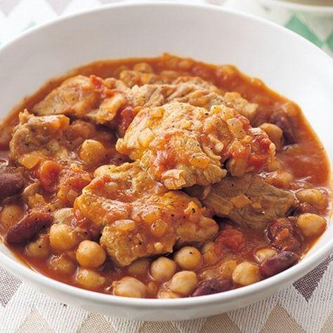 お疲れの体に。焼いて煮込むだけの「豚肉と豆のトマト煮込み」 画像(1/2) 良質なたんぱく質たっぷり! ダイエッターにもおすすめ