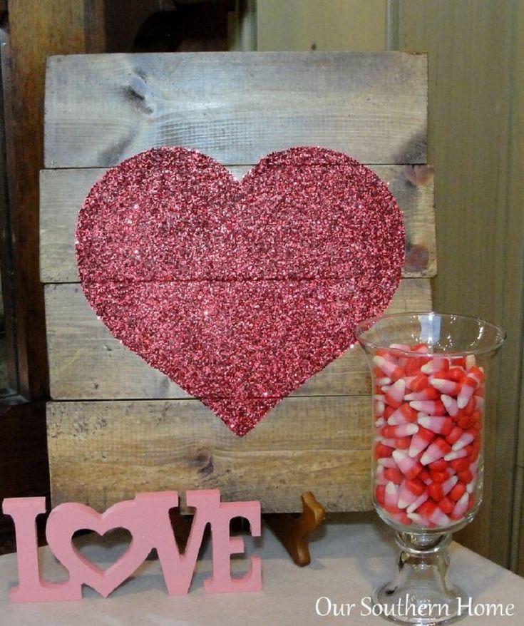 Mod Podge Heart Art - 15 Lovey-Dovey DIY Valentine's Day Decorations to Celebrate Love | GleamItUp