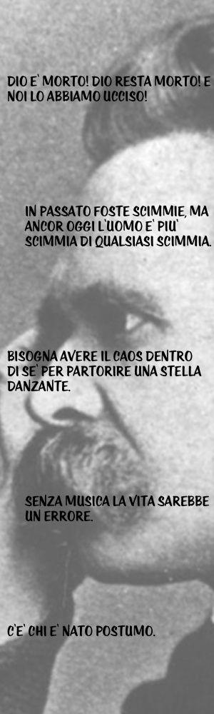 Cinque memorabili aforismi di Friedrich Nietzsche