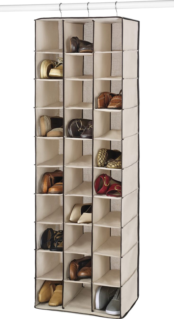 30-Pocket Hanging Shoe Organizer