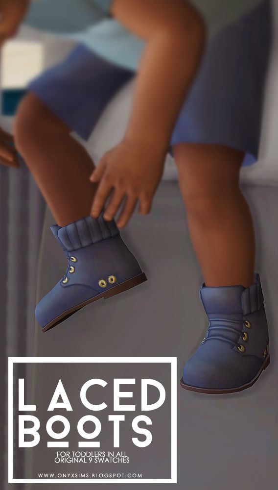 Laced Boots for ToddlersHere are the Get to Work boots converted down to toddlers in all of their original 9 swatches. Did this for @uniquely-khaotic, but you can all enjoy them too. If you have any...