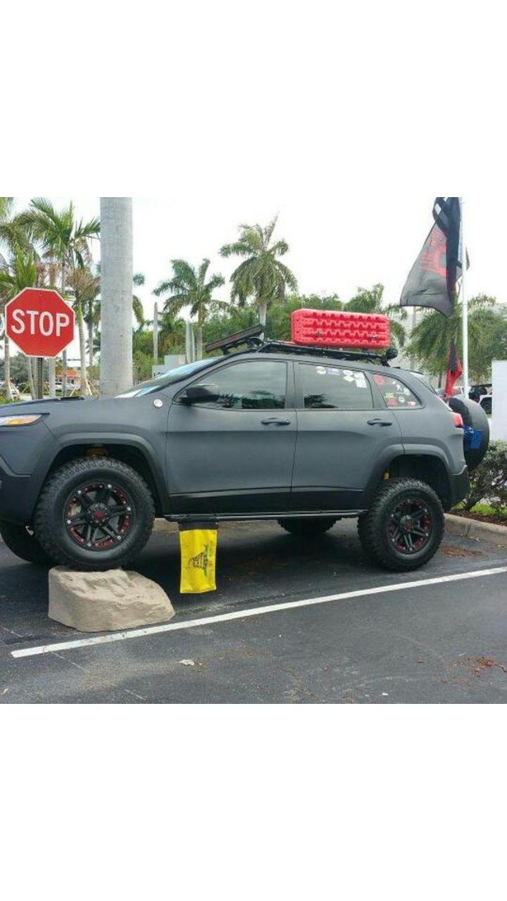 Lifted Jeep Cherokee KL #jeep #jeeplife #Wrangler #jeeps #Cherokee #JeepMafia #offroad #4x4