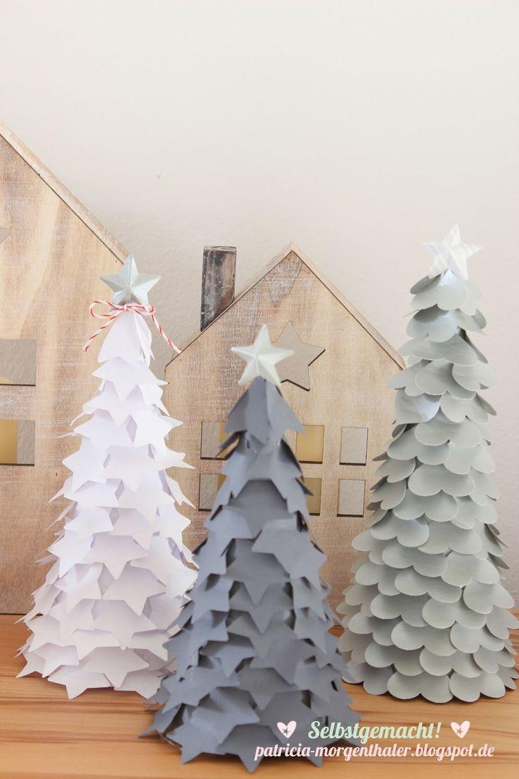 die besten 25 papier weihnachtsb ume ideen auf pinterest papierb ume weihnachtsbaum. Black Bedroom Furniture Sets. Home Design Ideas