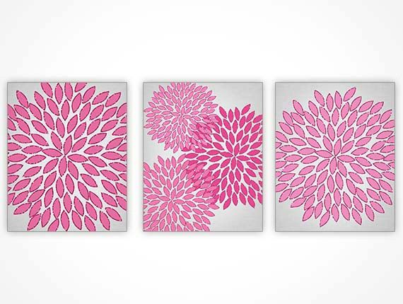 Hot Pink Bedroom Wall Art PRINTABLE Hot Pink by ModernPrintableArt, $8.95
