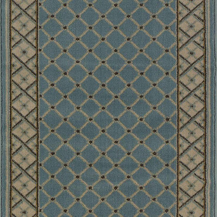 Natco Stratford Bedford Light Blue 33 in. x Your Choice Length Roll Runner-8264BLWR at The Home Depot