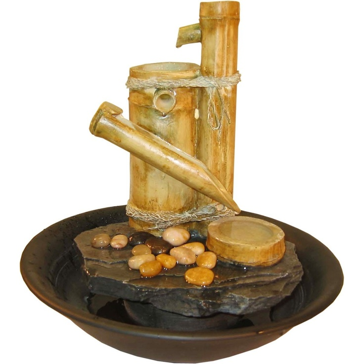Tabletop Fountain Bamboo Slide httpwwwfathomfountainscombamboo 8