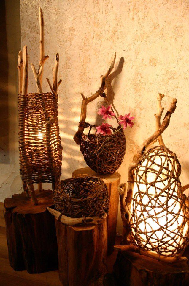 .lampe vannerie