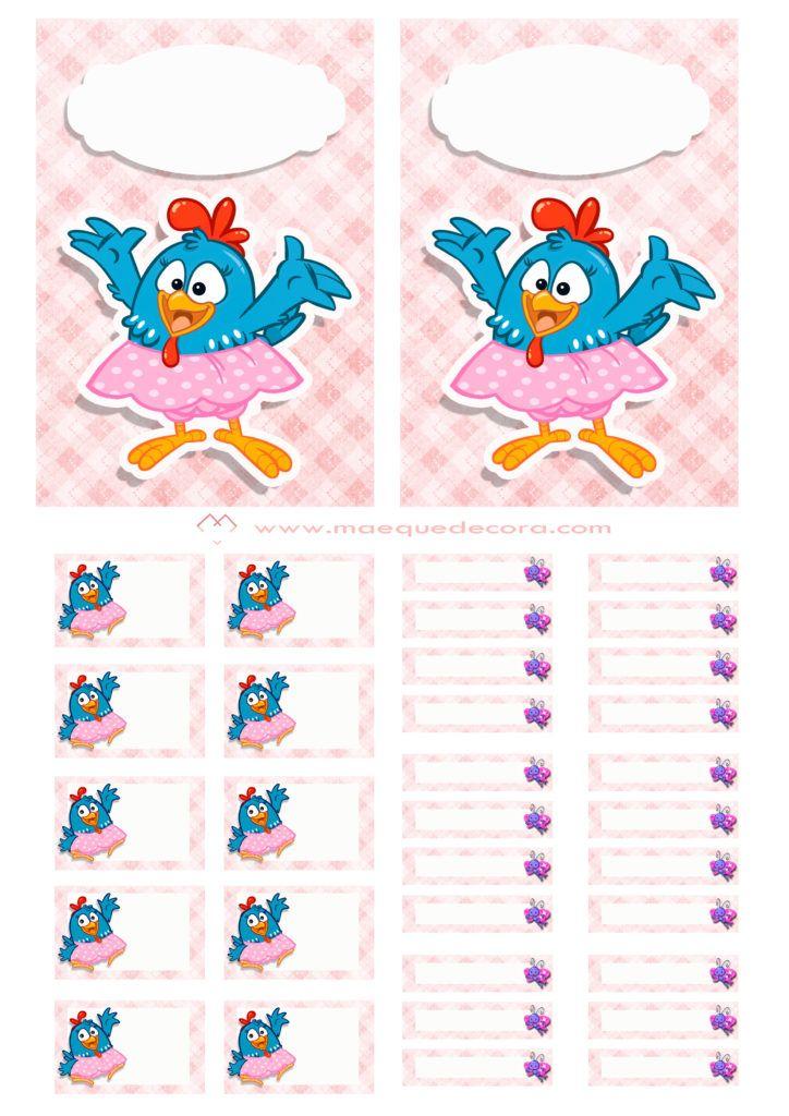 Etiquetas Escolares Da Galinha Pintadinha Para Imprimir E