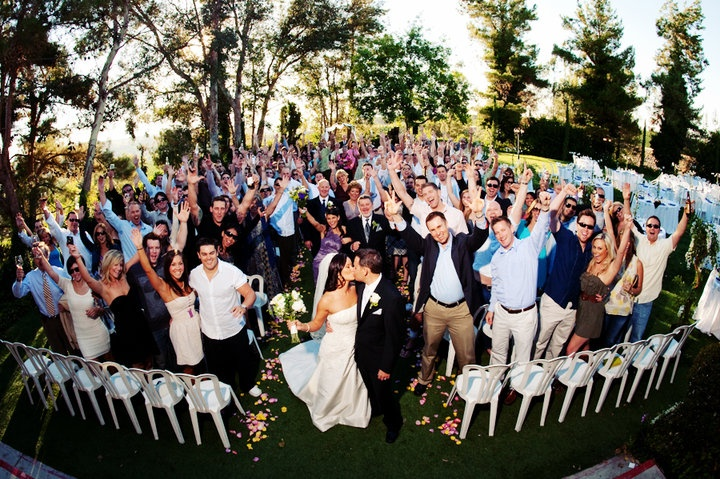 Best Time To Have A Wedding: Our Wedding Day. The Best Time To Get A Group Shot, Is