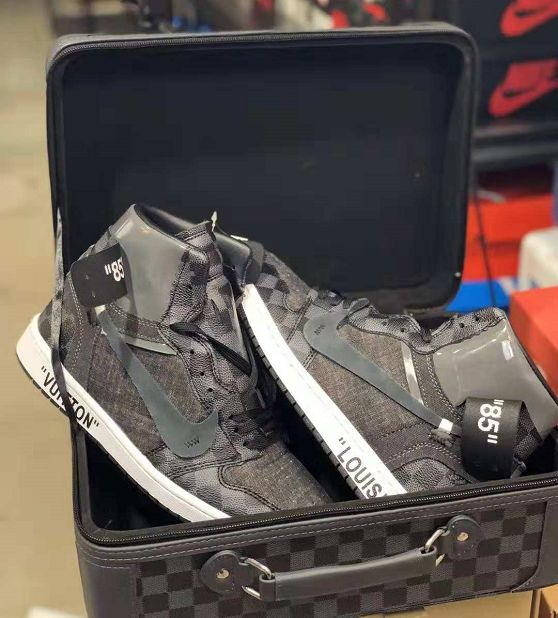 52be7aaca52f4c Custom Off-White x Nike Air Jordan 1 x Louis Vuitton Monogram and Damier  Pattern Sneakers Shoes-KicksVogue