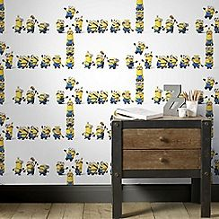 Graham & Brown Kids - Yellow Universal Studies Minions Kids Wallpaper