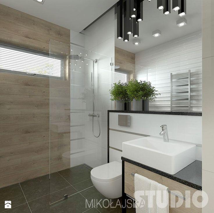 Mała łazienka w stylu skandynawskim Łazienka - zdjęcie od MIKOŁAJSKAstudio