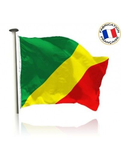 Drapeau Congo Brazzaville Made In France by Manufêtes