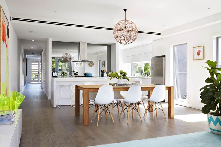 Colourful dining room of stylist Aimee Tarulli of Archer Interiors