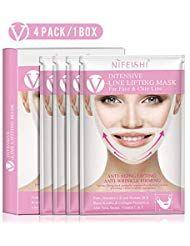 NIFEISHI V Line Lifting Maske 4er Pack Klimmzug Patch V-Form Facelifting Doppelch …