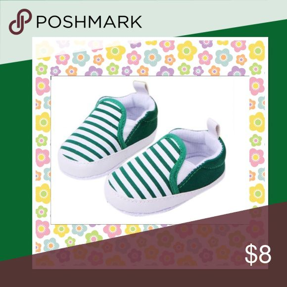Toddler Anti-Slip Sneakers Toddler soft sole anti-slip green striped sneakers Boutique Shoes Sneakers
