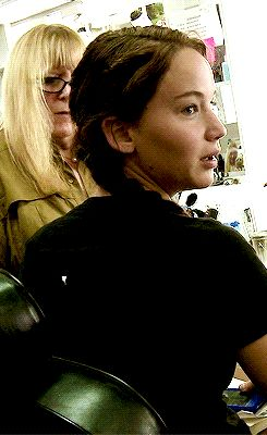 The Hunger Games - Jennifer behind the scenes