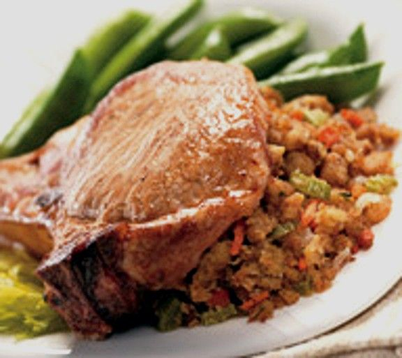 Baked pork chops stuffing recipes