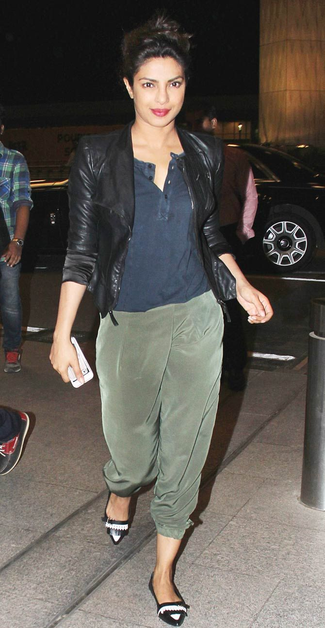 Priyanka Chopra spotted at the Mumbai airport.