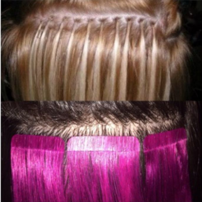 Link by link All that damge No more Learn about the new seamless tape in method for hair