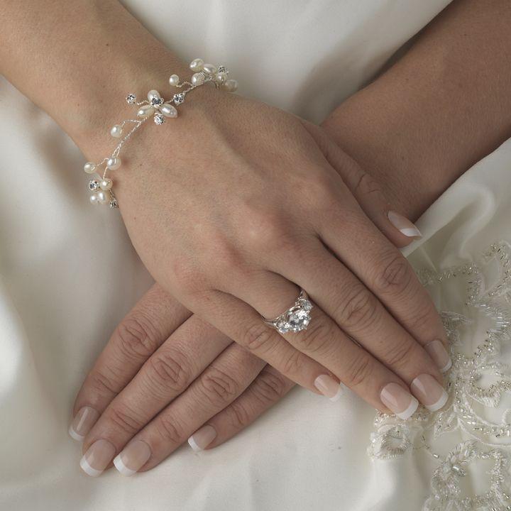 Affordable Elegance Bridal - Dainty Freshwater Pearl Bridal Bracelet, $47.99 (http://www.affordableelegancebridal.com/dainty-freshwater-pearl-bridal-bracelet/)