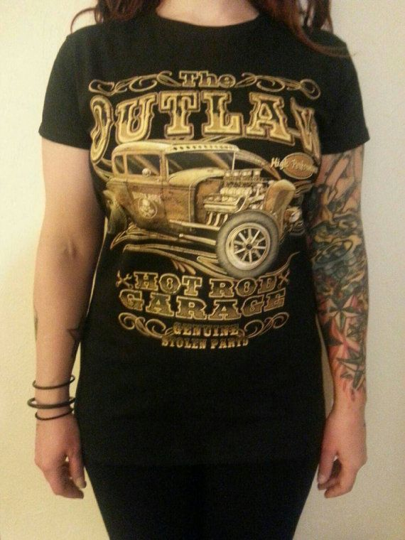Check out this item in my Etsy shop https://www.etsy.com/listing/214824242/womens-black-rat-rod-hot-rod-t-shirt