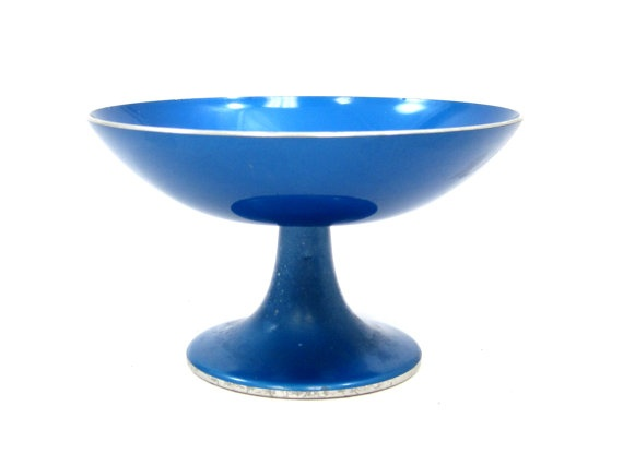 Mid Century Emalox Tulip Pedestal Bowl,
