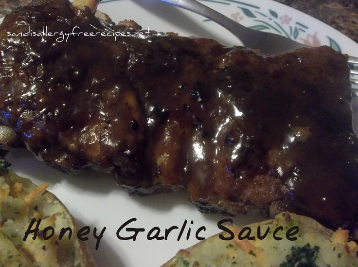 Honey Garlic Sauce (Gluten Free/ Refined Sugar Free) #SandisAllergyFreeRecipes