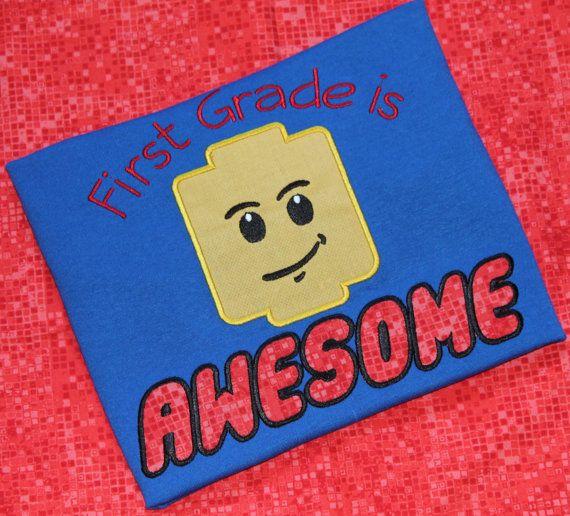 Lego Back to school T Shirt  Kindergarten 1st by BirdieJamesEandS, $27.95