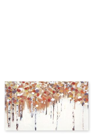 Abstract Birch Tree Canvas