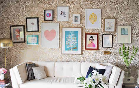 emily henderson: Wall Art, Living Rooms, Gallery Walls, Galleries Wall, Photos Wall, Frames Arrangements, Emily Henderson, Pictures Frames, Art Wall