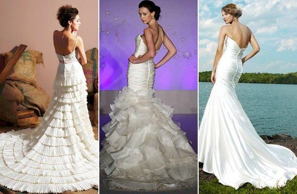 Hátul nyitott menyasszonyi ruhák