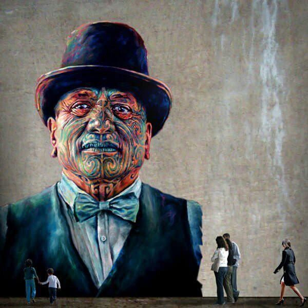 Beautiful painting of Maori Moko