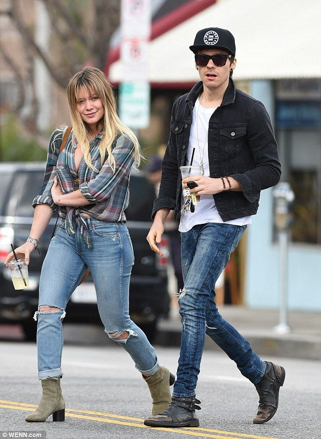 Blossoming romance: Hilary Duff was spotted out with new boyfriend Matthew Koma in Los Angeles on Thursday