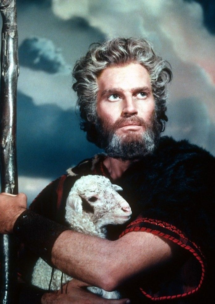 """Charleston Heston as: Moses from the famous movie """"The Ten Commandments."""""""