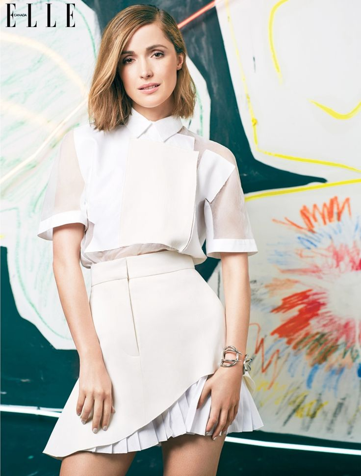 rose byrne photo shoot5 Rose Byrne Gets Arty in Elle Canada May Cover Story