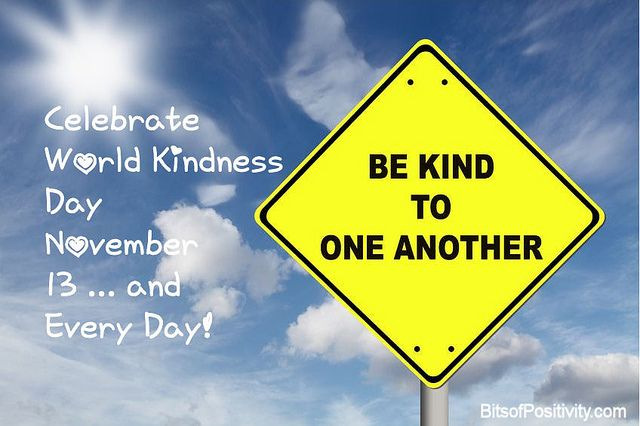 Celebrate World Kindness Day November 13 … and Every Day!