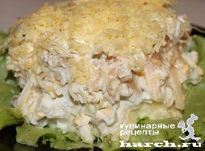 Слоеный салат с сельдью Престиж