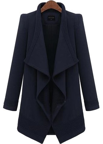 Shop Blue Lapel Long Sleeve Belt Woolen Coat online. Sheinside offers Blue Lapel Long Sleeve Belt Woolen Coat & more to fit your fashionable needs. Free Shipping Worldwide!