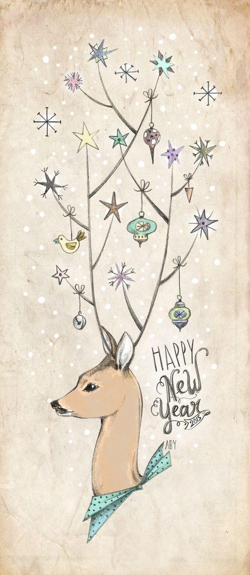 Pour ce début d'année 2015 nous pouvons découvrir les premières cartes et vidéos pour souhaiter une bonne année réalisées par des graphistes, illustrateurs ou motion designers.