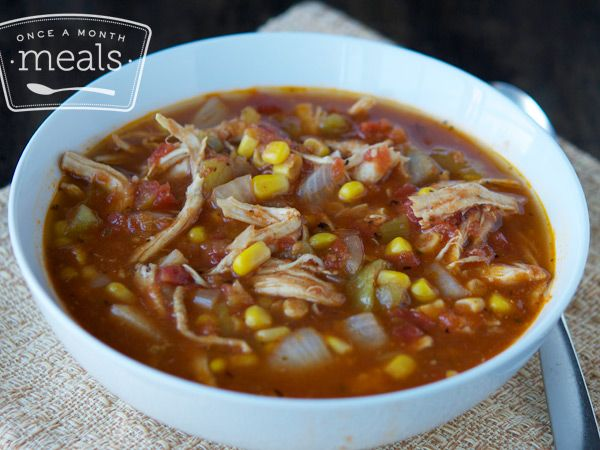 Gluten Free Dairy Free Chicken Fiesta Soup recipe- keep in the freezer for those lazy nights this fall.  #glutenfree #dairyfree #freezercooking