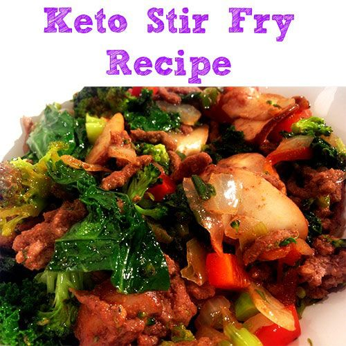 Keto Ground Beef Stir Fry Recipe | What a wonderfully healthy meal! Love that it calls for both coconut oil and kale :)
